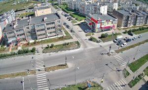 Перекресток улиц Камышинская и Генерала Мельникова в Ульяновске