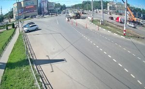 Перекресток улиц Станкостроителей и Рябикова в Ульяновске