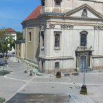 Главная Площадь города Папа в Венгрии